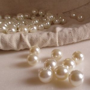 perles blanches 14 mm
