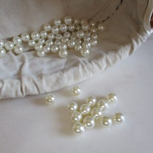 perles blanches 8 mm