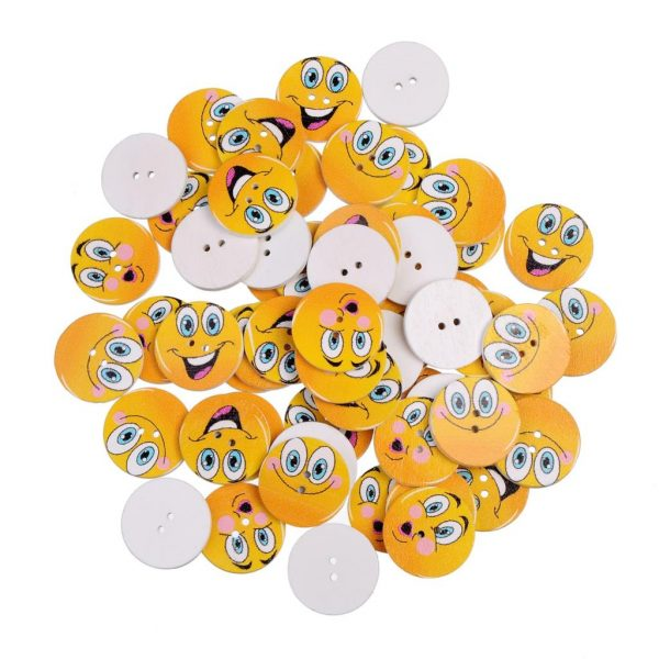 bouton smiley épais