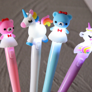 Crayons lumineux Hello kitty et licorne